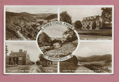 Unused Vintage Valentine's Postcard - Greetings From Tomintoul