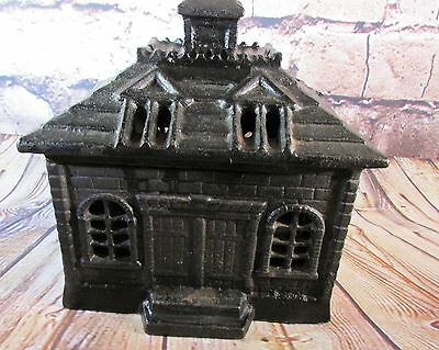 Vintage Cast School House Bank 1960's-70's VGC