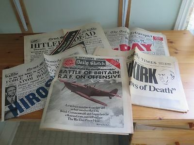 Great Newspapers Reprinted - 8 Reprints of Newspapers from the 1940s