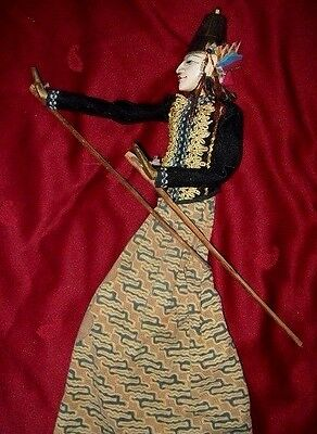 Vintage Wooden Rod Puppet Handmade ~ Indonesian WAYANG GOLEK approx 20ins