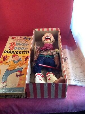 1950s original Howdy Doody Marionette with box and instructions!