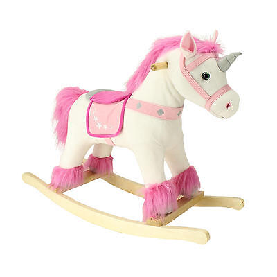 Rocking Horse Unicorn Rider Kids Toddler Toy w/ Neighing Sounds