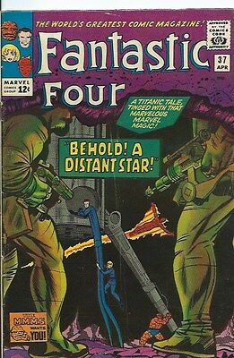 FANTASTIC FOUR vol1 37 ( Marvel Comics, 1965) VG+ to FN condition. KIRBY art