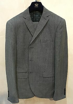 Next New Grey Checked 2 Piece  Suit - 42 in. Long Jacket 36 in. Long Trouser