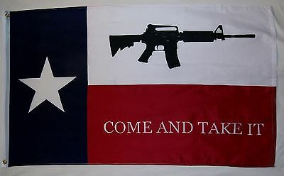 Come And Take It Texas Flag 3' x 5' Gun Rights Tea Party Historical Banner