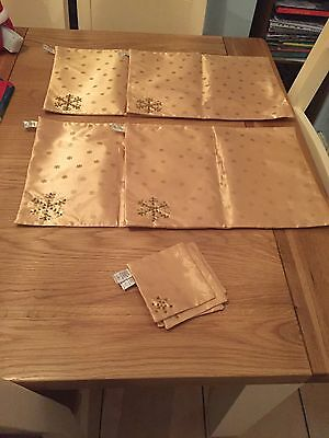 Gold Christmas Place Mats Table Mats