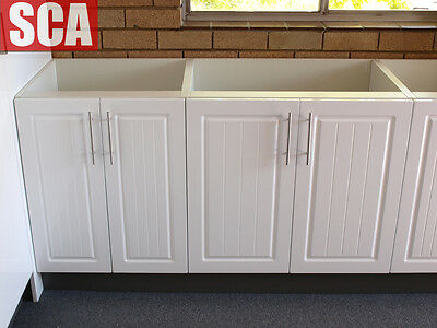 Polyurethane Laundry Kitchen Cabinets Special with stone bench top, from $575.