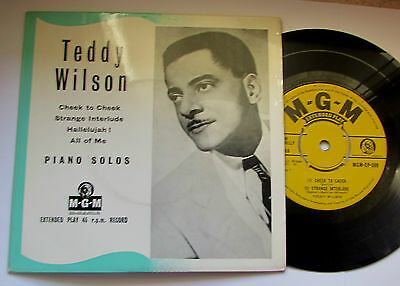 "TEDDY WILSON 4 Track EP 7"" PIANO SOLOS  RARE UK MGM JAZZ"