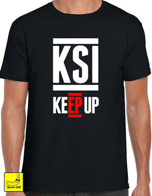 KSI Keep Up T-Shirt Sidemen YouTube Army FIFA Gaming Boxing Logan Kids Adult Tee