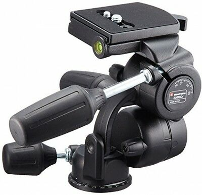 Manfrotto 3 Way Pan/Tilt Head With RC4 Quick Release Plate