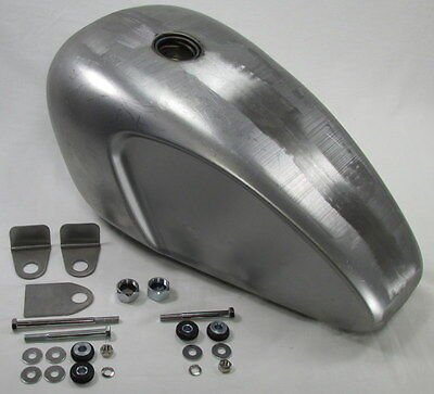 "Scalloped Legacy ""Triumph"" Gas Tank With Mounting KIT Chopper Cafe Racer 3.8 Gal"