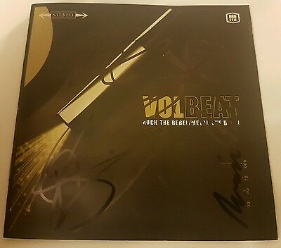 signed autograph volbeat rock the rebel metal the devil cd