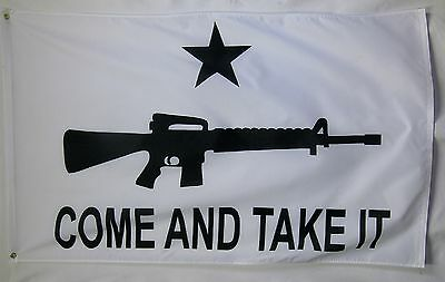 Come And Take It Rifle Flag 3' x 5' Gun Rights Tea Party USA Banner