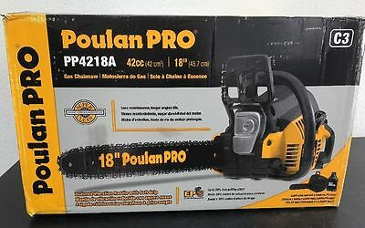 New- Poulan Pro PP4218A 42cc Gas 2-Cycle 18 in. Chain Saw