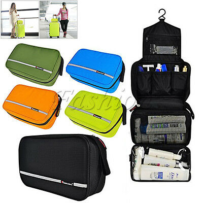 Travel Organizer Accessory Toiletry Cosmetics Makeup Hanging Shaving Kit Bag NEW