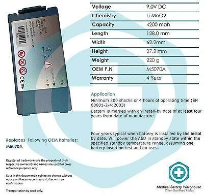Replacement FRx medical battery- Philips HeartStart HS1 OnSite AED Defibrillator