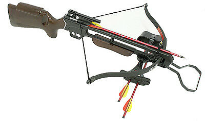 Man Kung 150lbs Hunting Crossbow Pre Strung Limb Cross Bow With Quiver