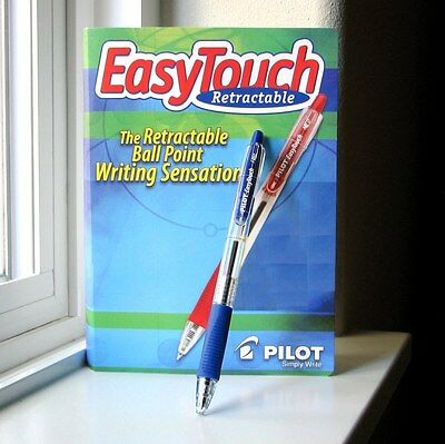 3-PACK NEW PILOT EASYTOUCH 0.7mm FINE RETRACTABLE BALL POINT PENS BLUE 32211