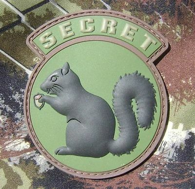 Black Ops Military Secret Squirrel Military Usa Tactical Pvc Forest Velcro Patch