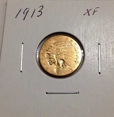 1913 $2.50 Gold Indian Head XF