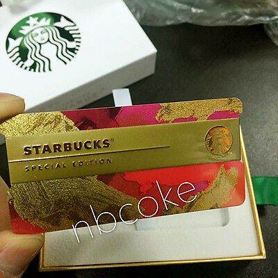 Rare China 2016 Starbucks Holiday Speacial MSR Edition Empty Card With Box