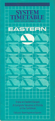 Eastern Airlines system timetable 10/1/88 (Buy 2 get 1 free)