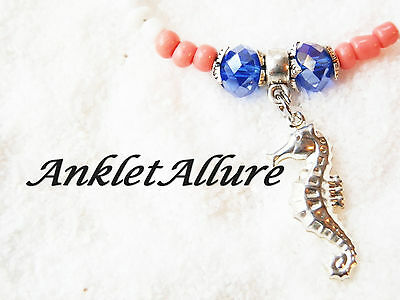 Seahorse Body Jewelry Coral Anklet Beach Ankle Bracelet Cruise Vacation Jewelry