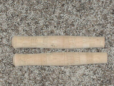"2 Rod Building Wrapping Western style fly cork handles 7"" long 5/16"" ID NICE"
