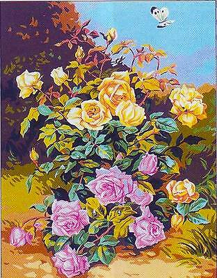Sale! Roses Of Yesteryear Needlepoint Canvas From Royal Paris #142.54