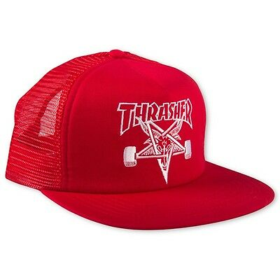 Thrasher Magazine Skate Goat Embroidered Hat Red Skater Punk