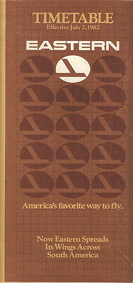 Eastern Airlines system timetable 7/2/82 (Buy 2 get 1 free)