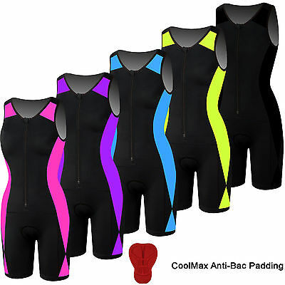 Women Triathlon Suit Padded Ladies Swimming Cycling Running Yoga Skin Fit Suit