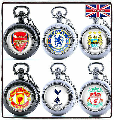 NEW FC Football Team Premier League Merchandise POCKET WATCH Gift XMas  UK STOCK