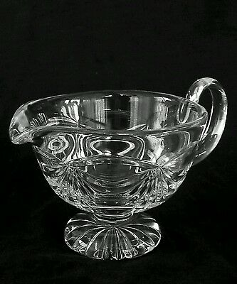 Large vintage heavy full lead crystal creamer 8 inches