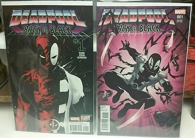 Deadpool Back in Black #1 standard and Ron Lim Variant covers NM 2 book set
