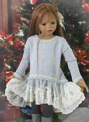 French Terry Lace Tunic Set For Your Special Himstedt Dolls.