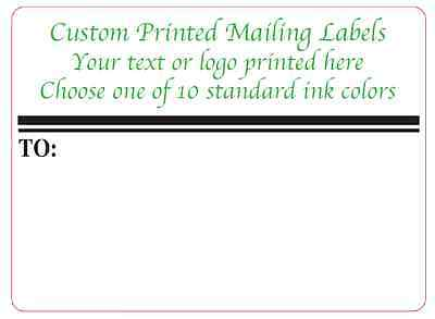 Custom Shipping Labels, 1,000 Printed 4x3 Business Mailing Stickers, 1-ink color