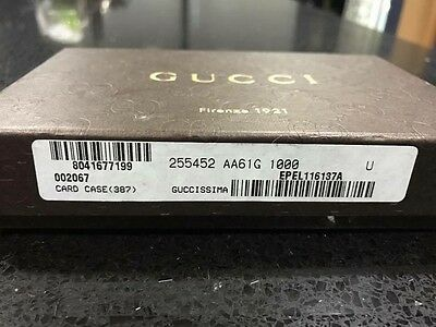 Authentic Black Gucci Card Case