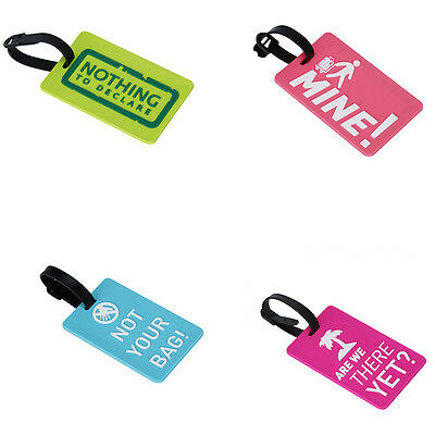 New Travel Suitcase Luggage ID Tags Labels Name Address ID Suitcase Bag Stunning