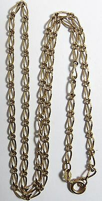 "VINTAGE 14K SOLID GOLD NECKLACE 8.05 GRAMS CHAIN 20 1/2"" LONG 2.5mm WIDE"