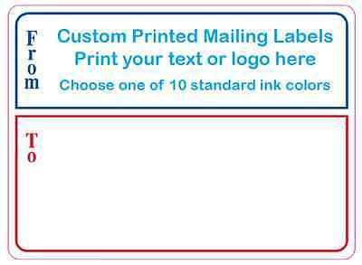 "1,000 Custom Mailing Labels, Printed 4"" x 3"" Business Shipping Stickers, 1 color"