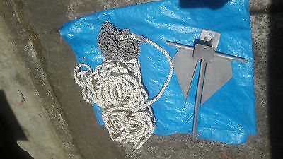 Boat rope/chain & anchor
