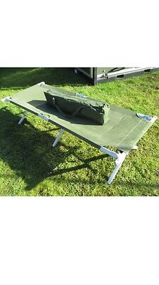 NATO Issue Folding Cot Bed Heavy Duty NEW Aluminium Camp Army / Military Surplus