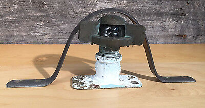 """Vintage Brass Bow Light 4"""" T 4"""" W Base with Brass Protector 10.5"""" Wide Boat NICE"""