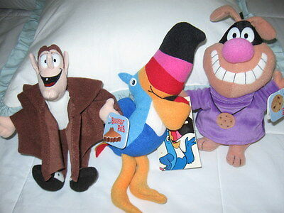 General Mills Breakfast Pals Plush Beanies Count Chocula Toucan Sam Chip Hound
