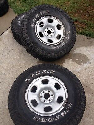 Nissan 16x7 Rims With Maxxis Bighorn Tyres Set Of 4