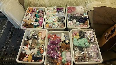 Huge Job Lot Of Over 550 Ty Beanie Babies With Tags Vgc Retired Free Uk Shipping