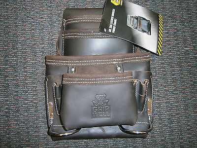 Oil Tan Leather Tool Belt Pouch Nail Bag Riggers Trade quality Hammer Holders