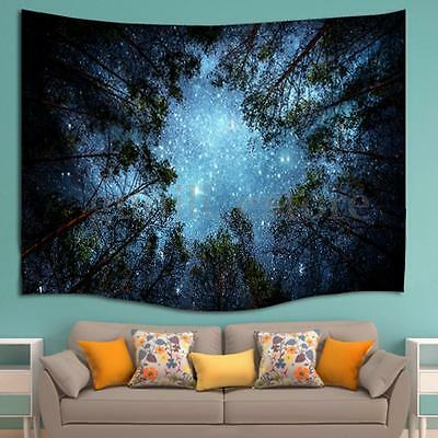 Sky Forest Hippie Tapestry Wall Hanging Throw Gypsy Boho Dorm Decor Bedspread