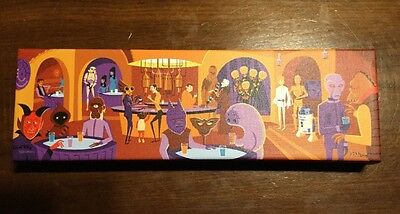 "Disney Shag Star Wars Cantina"" A Wretched Hive"" Canvas Wrap Signed & Numbered"